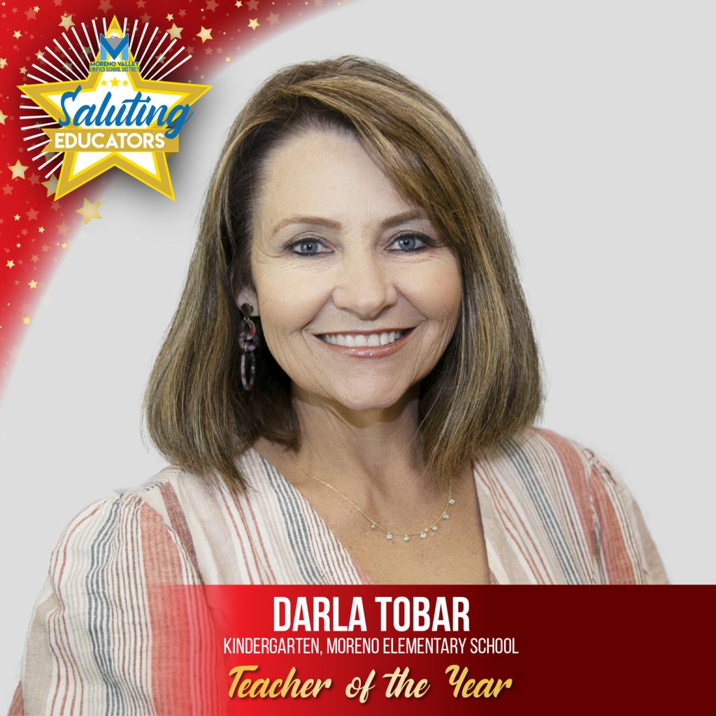 Darla Tobar, Moreno Elementary, Teacher of the Year