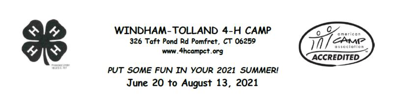 WINDHAM-TOLLAND 4-H CAMP INFORMATION Thumbnail Image