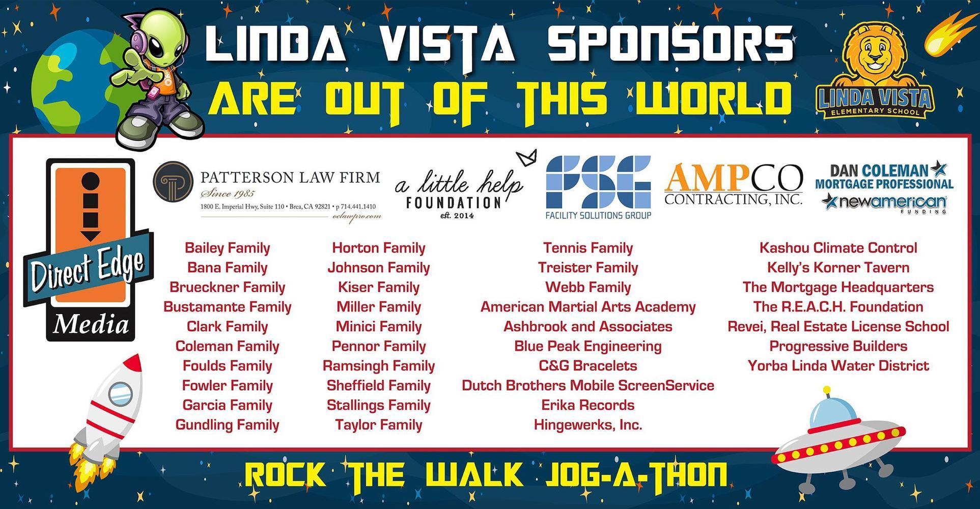 Linda Vista Jog-A-Thon Sponsors