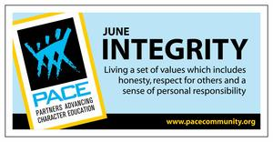 June Trait of the month banner, Integrity