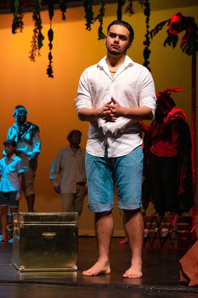 A solo photo of Anthony Villatoro as Daniel Bouxhomme