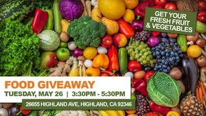 Food Giveaway - Fruit and Vegetables