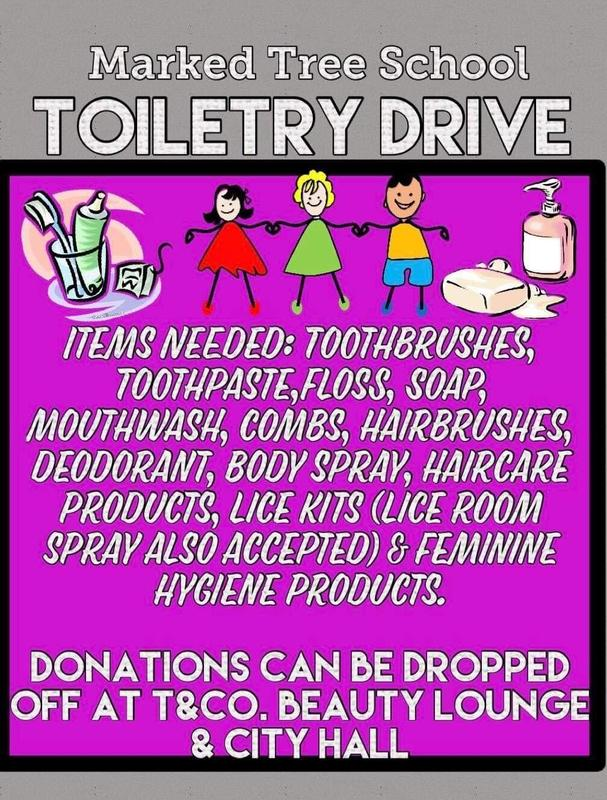 Marked Tree School PTO Partnering with T & Co Beauty Lounge On Toiletry Drive! Featured Photo