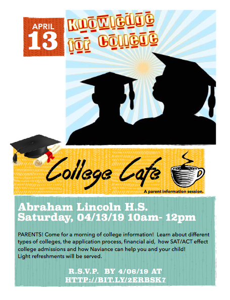 The College Cafe- April 13th, 2019 10am-12pm Featured Photo