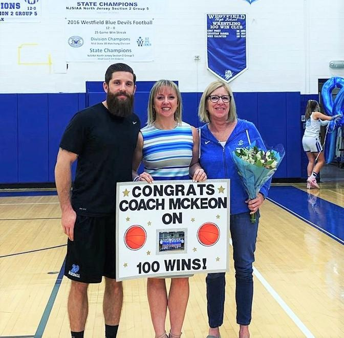 Congratulations Coach Liz McKeon on your 100th win!
