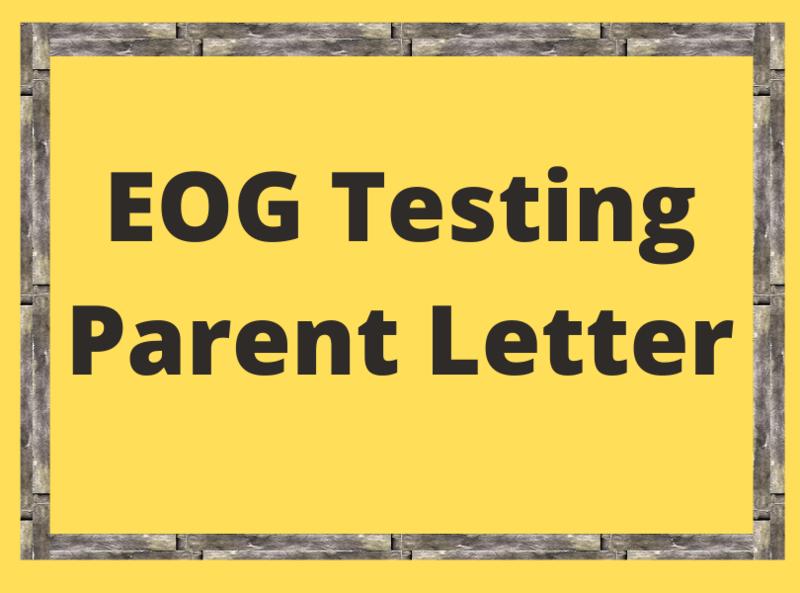 EOG Testing Parent Letter