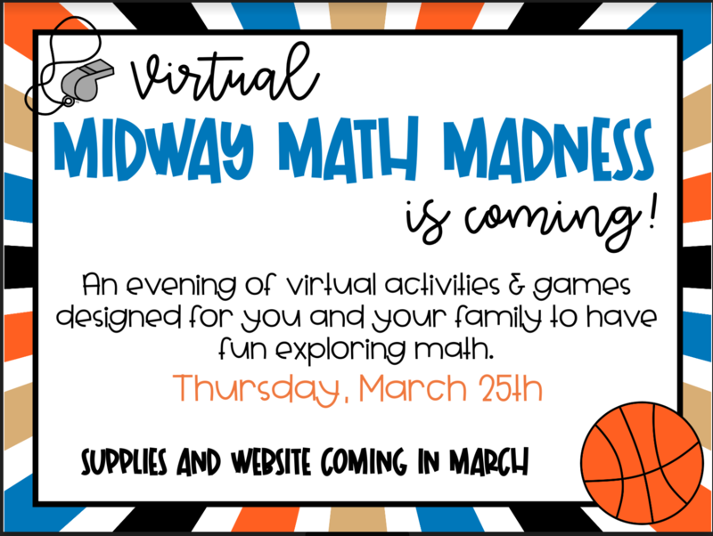 Graphic for March Math Madness Night Mar 25