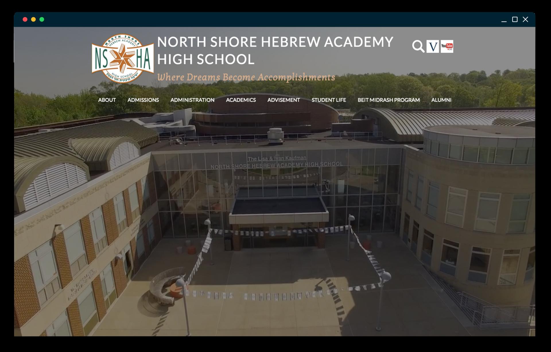 North Shore Hebrew Academy High School homepage