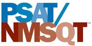 logo for the PSAT text