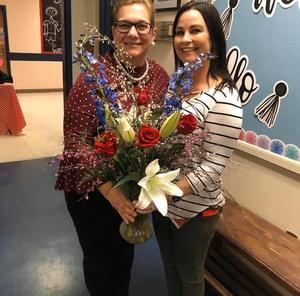Teacher of the year, Niki Poplin