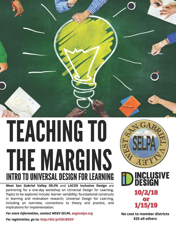 Teaching to the Margins:  Intro to UDL