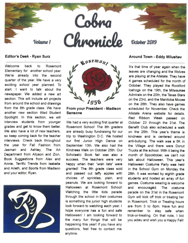 Cobra Chronicle October 2019