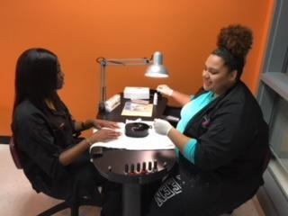 Cosmetology students @ work learning!