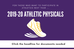 2019 - 2020 athletic physicals
