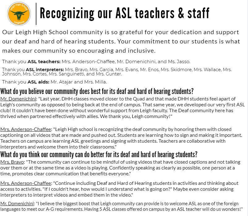 ASL Staff