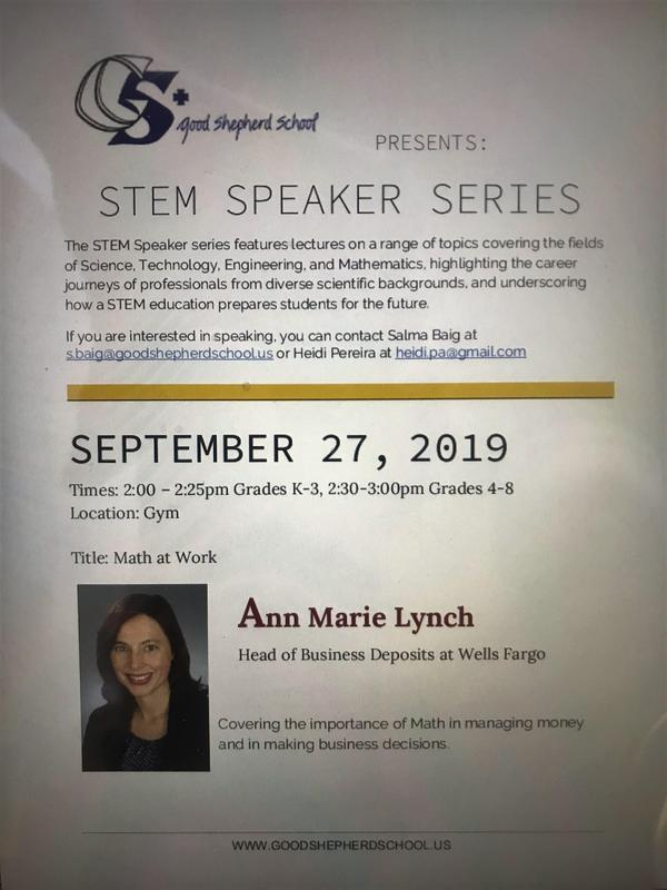 Speaker Series begins September 27,2019