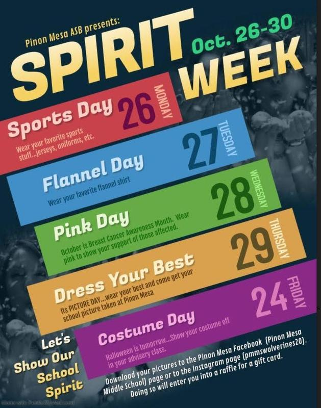 School Picture Day and Spirit Week Coming Soon! Featured Photo