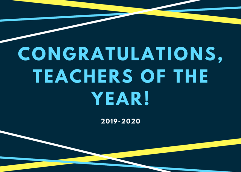 graphic reads congrats teachers of the year