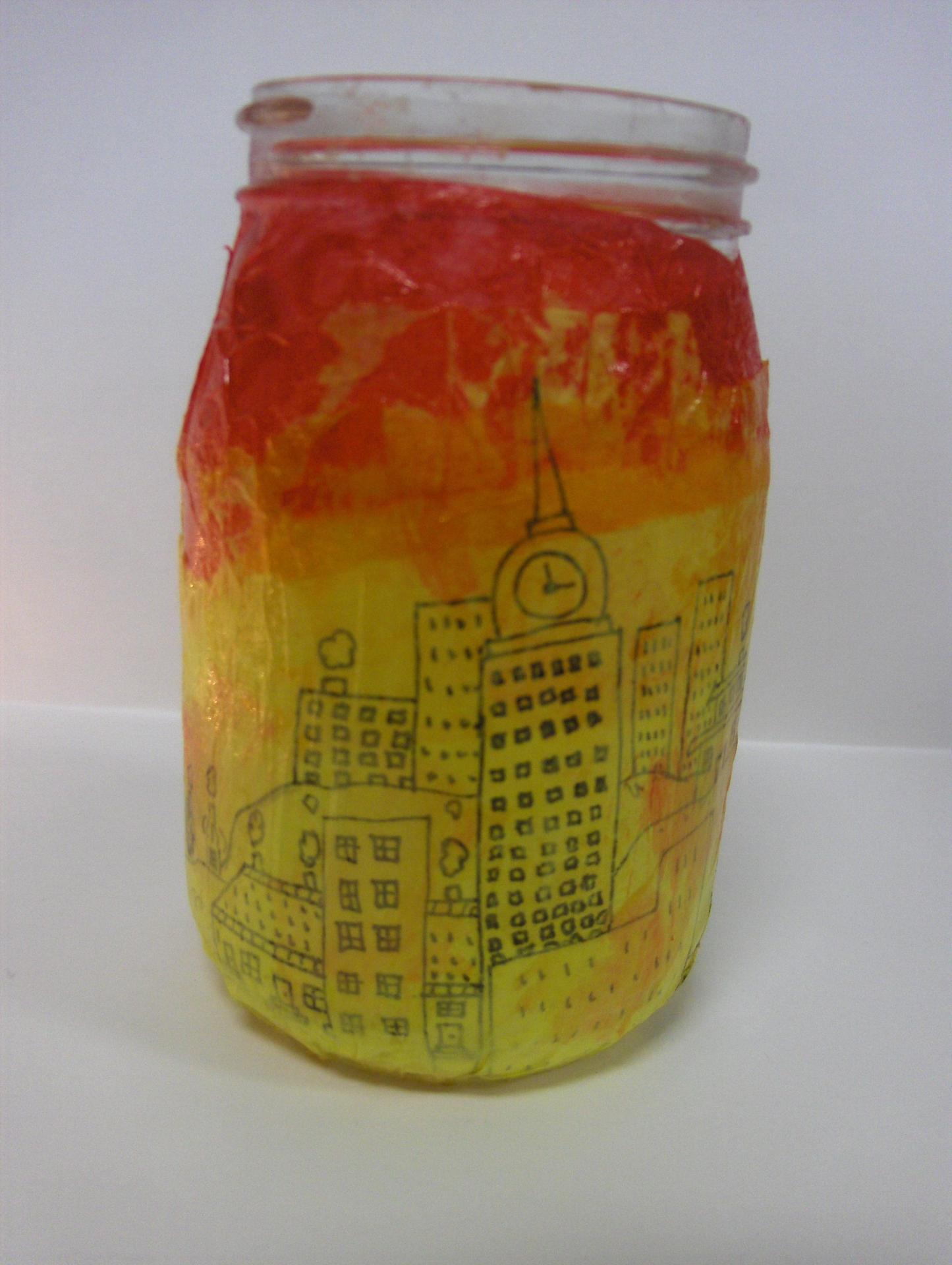 city glass art