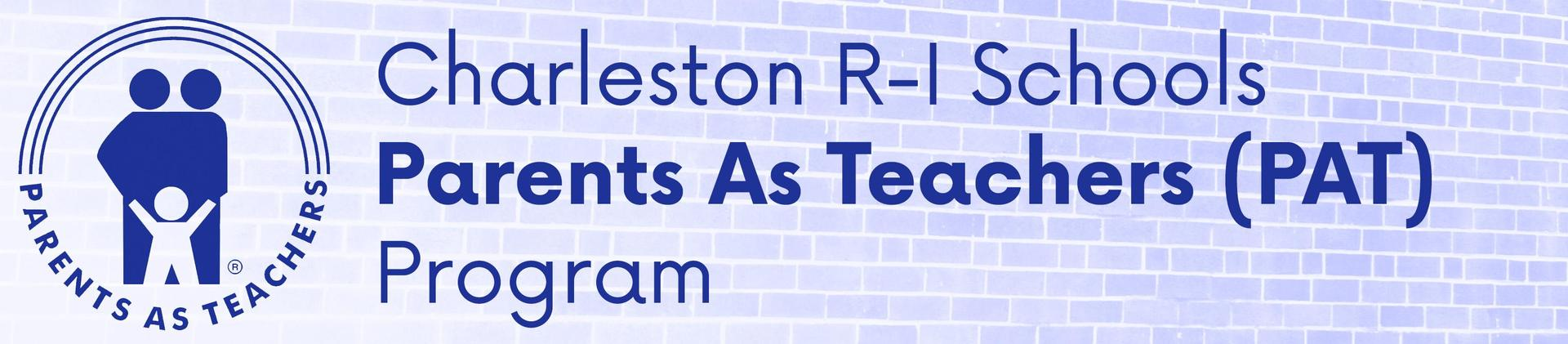 Charleston R-I Parents as Teachers Program header and logo