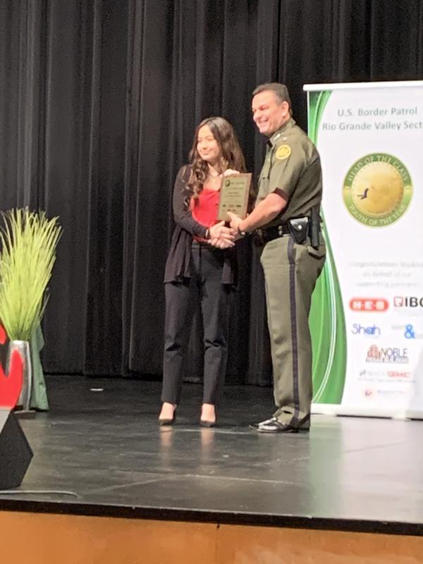 Anahi Molano Honored in the RGV Border Patrol