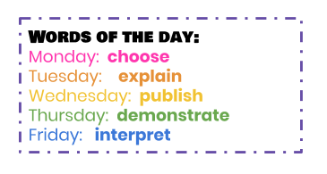 Word of the Day! Thumbnail Image