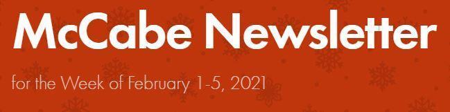 Newsletter for Week of February 1-5 Thumbnail Image