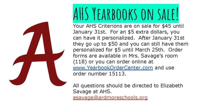 AHS Yearbooks on SALE! Featured Photo