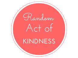 Sign saying random acts of kindness