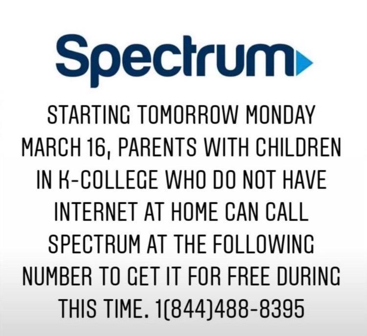 Spectrum To Offer Free Internet