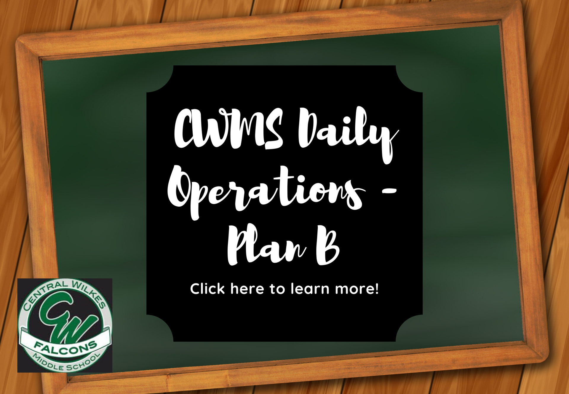 daily operations for plan b cwms