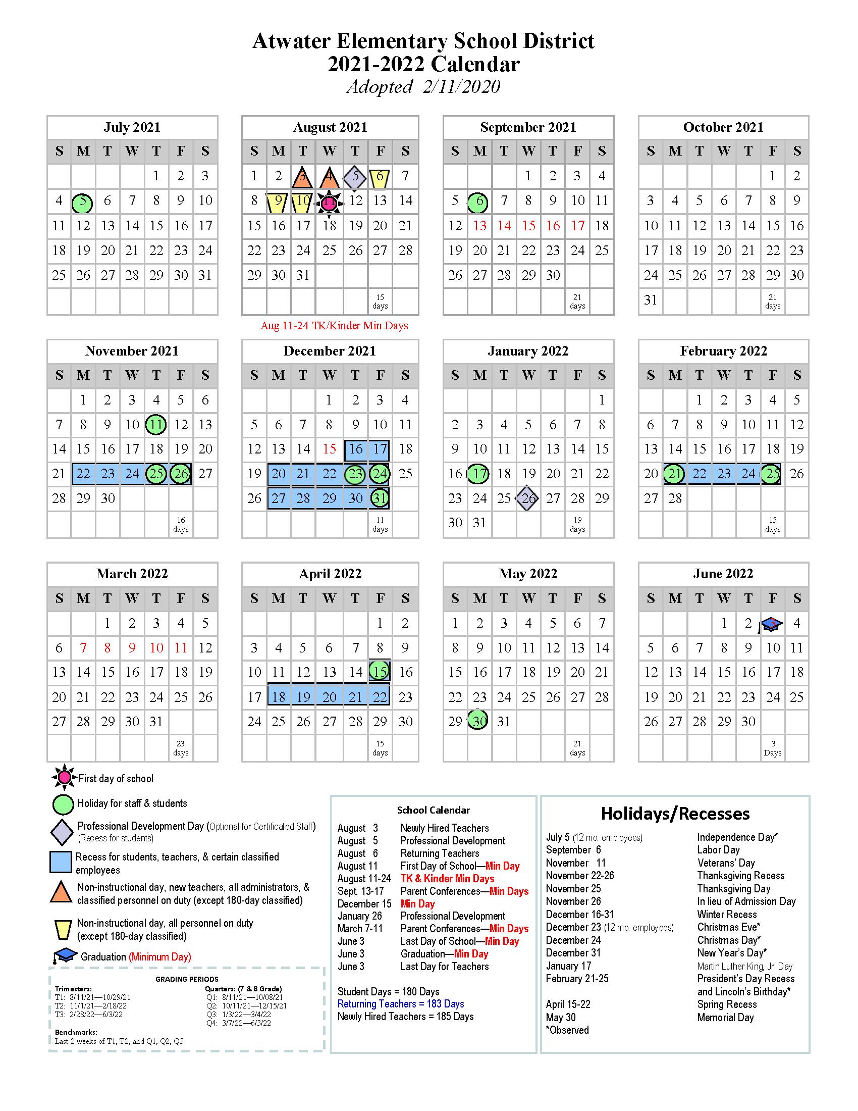21.22 School Calendar