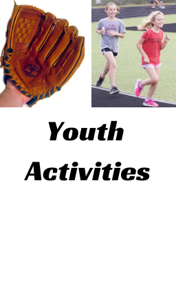 picture of baseball glove and girls running