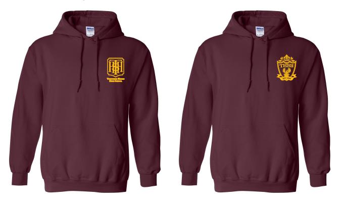 Maroon hoodies