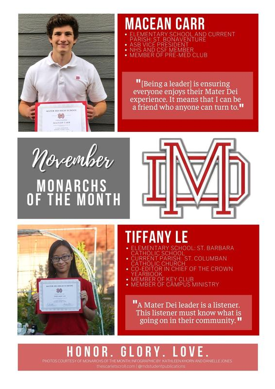 Monarchs of the Month of November! Featured Photo