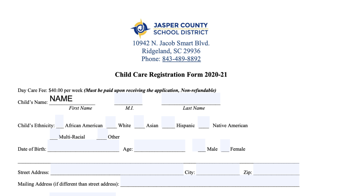 Fill out the form
