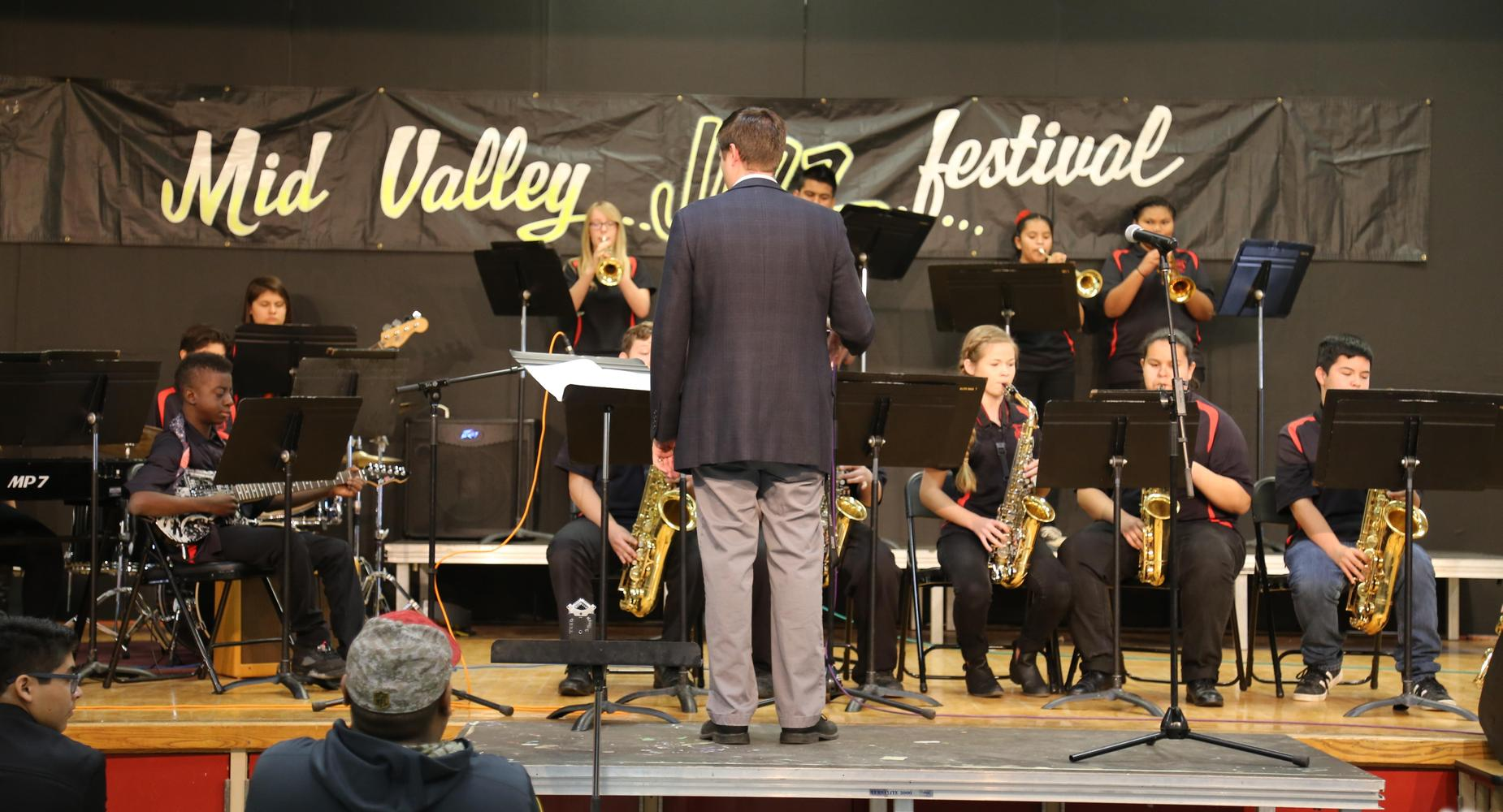 Band Students at Mid Valley Jazz Festival