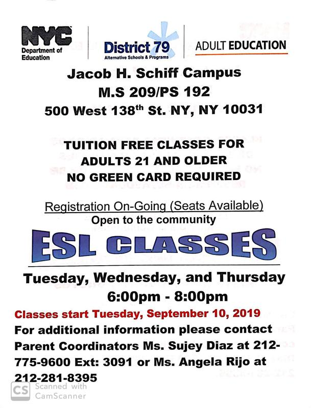 Flyer for English Classes in English