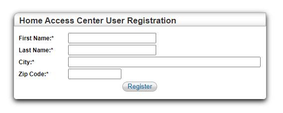 HAC User Registration