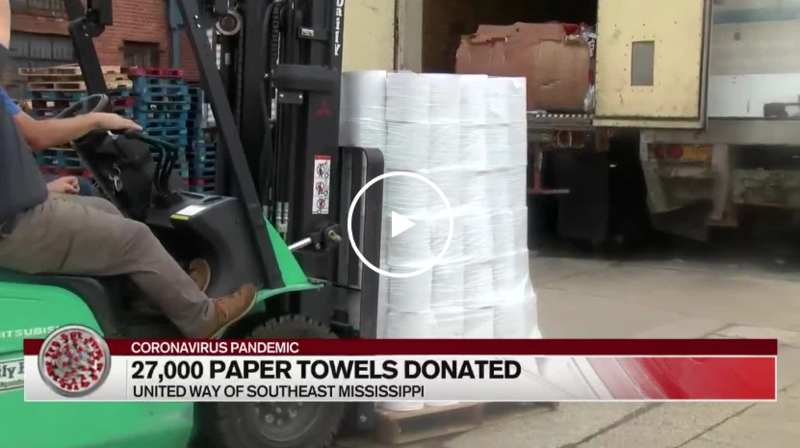 WDAM: 27,000 paper towels heading to Hattiesburg's most vulnerable citizens Featured Photo