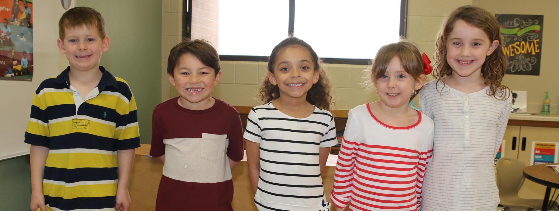 Five kindergarteners