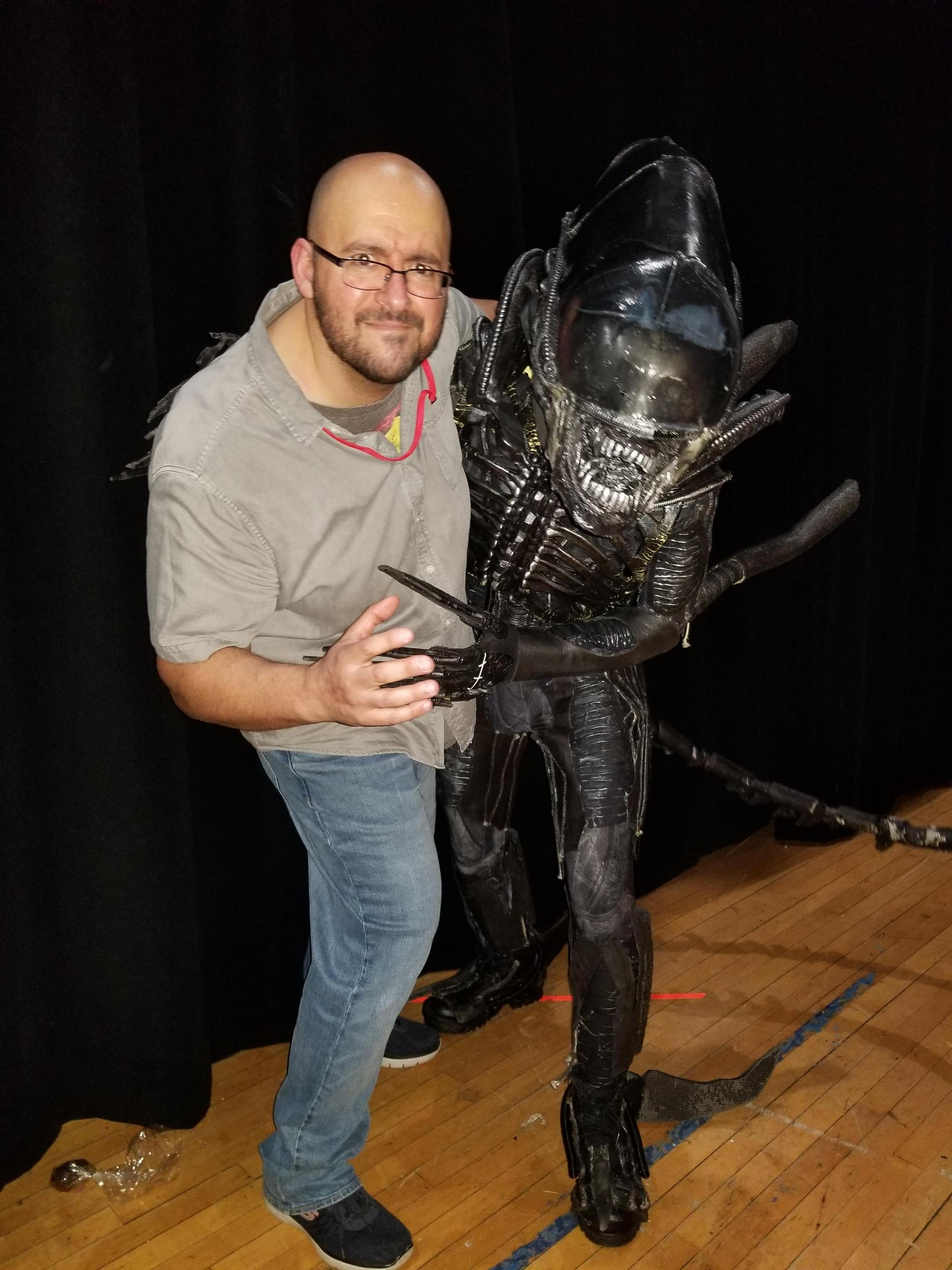 Me with our Xenomorph actor, Xavier Perez