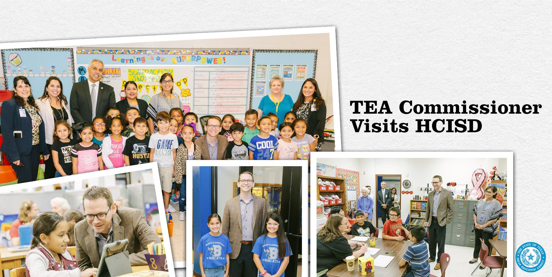 TEA Commissioner Visits HCISD