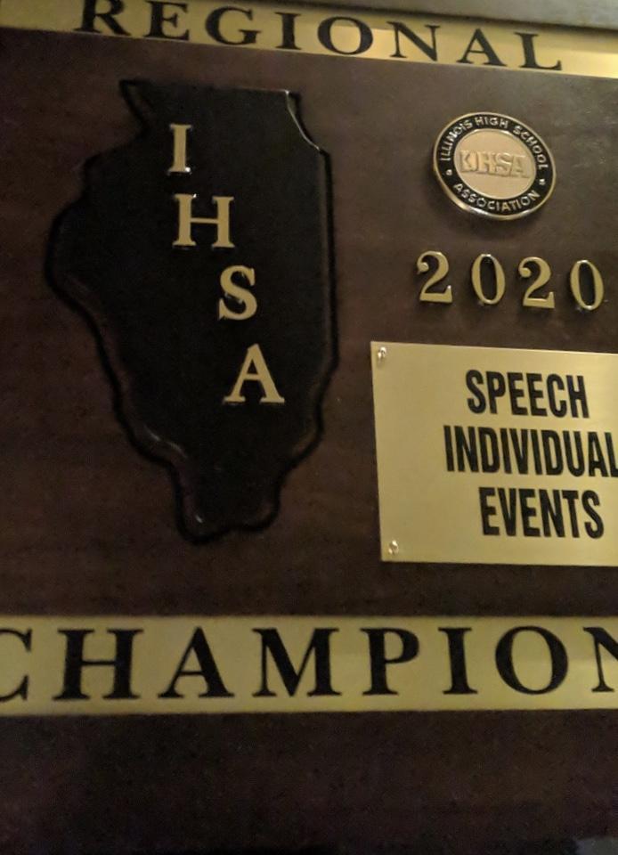 Regional Champ plaque