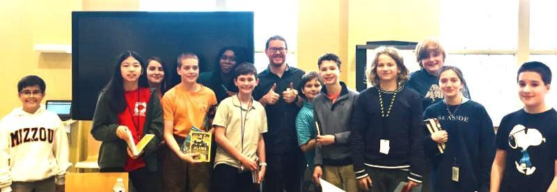 New York Times best-selling author visits MIS/HPMS Featured Photo