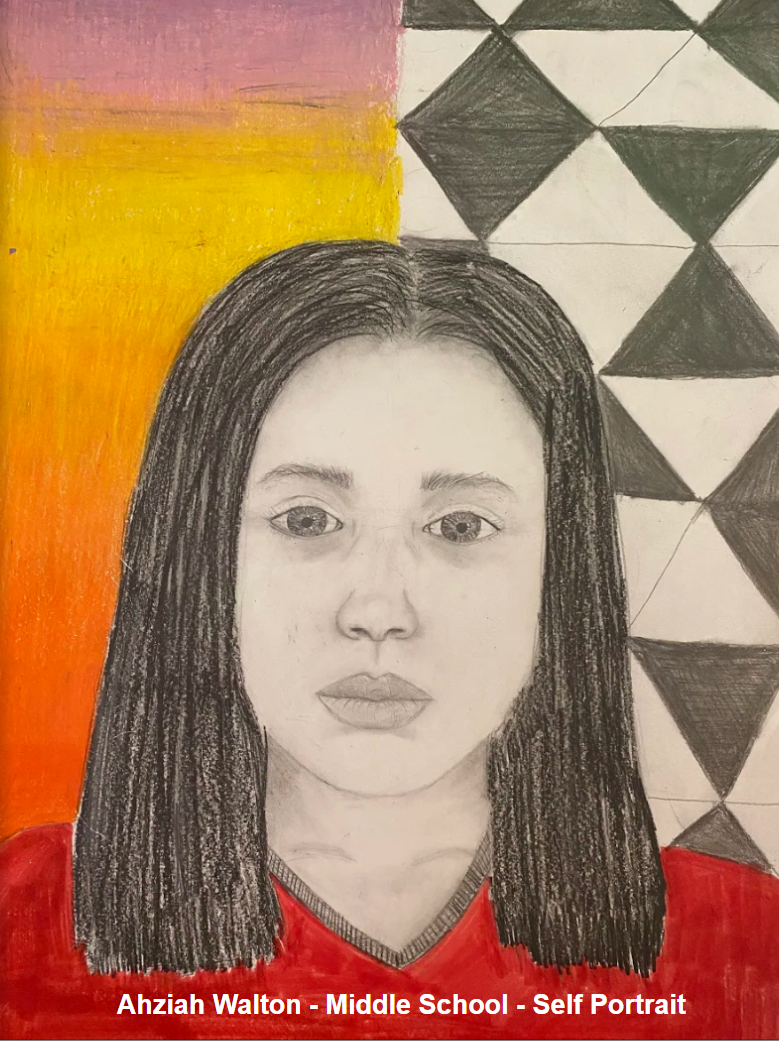 Ahziah Walton - Middle School - Self Portrait
