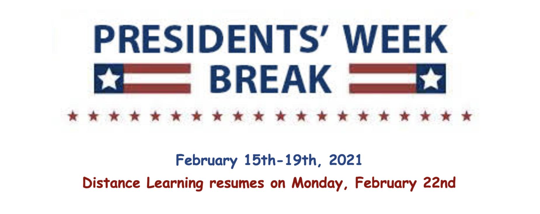 Presidents' Week February 15-19
