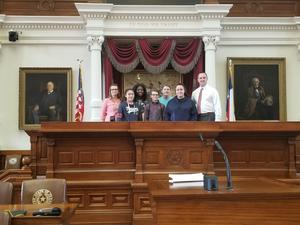 LJH students at the State Capitol with State Rep. Ernest Bailes
