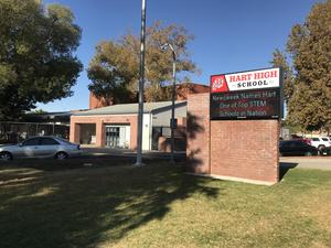 Hart High School front of school and marquee