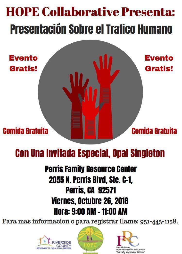 Spanish text version of Human Trafficking Awareness